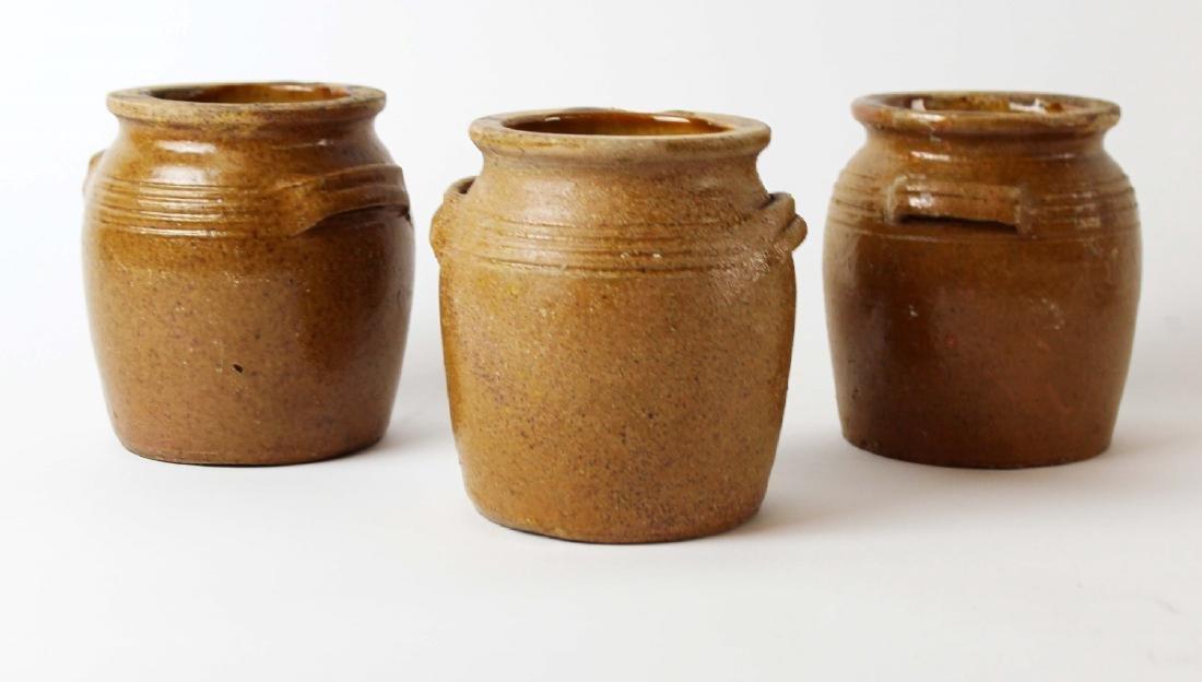 Lot of 3 French confit pots