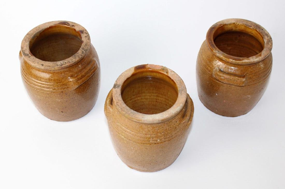 Lot of 3 French confit pots - 3