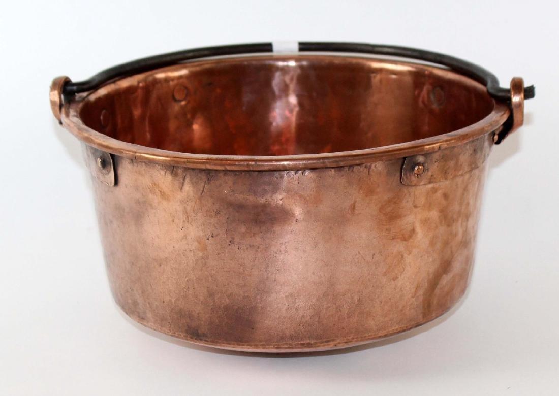 French antique copper pot