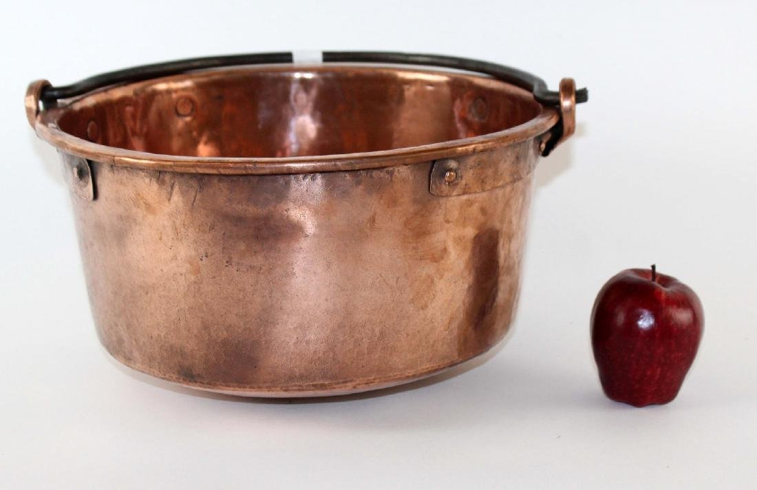 French antique copper pot - 3