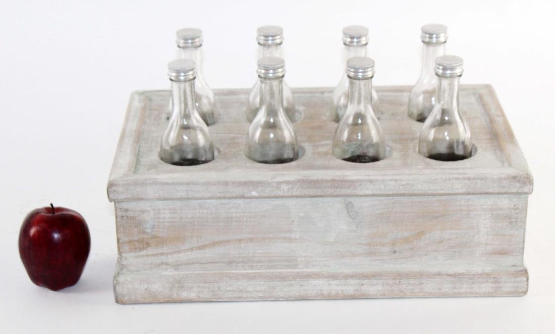 French wooden crate with bottles - 2