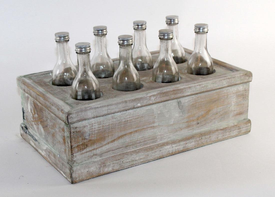 French wooden crate with bottles - 3