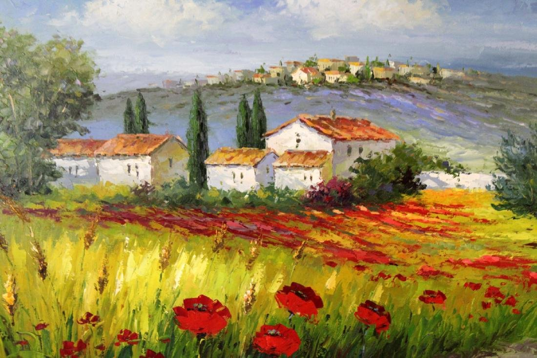Oil on canvas depicting poppy field - 3