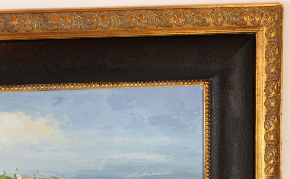 Oil on canvas depicting poppy field - 4