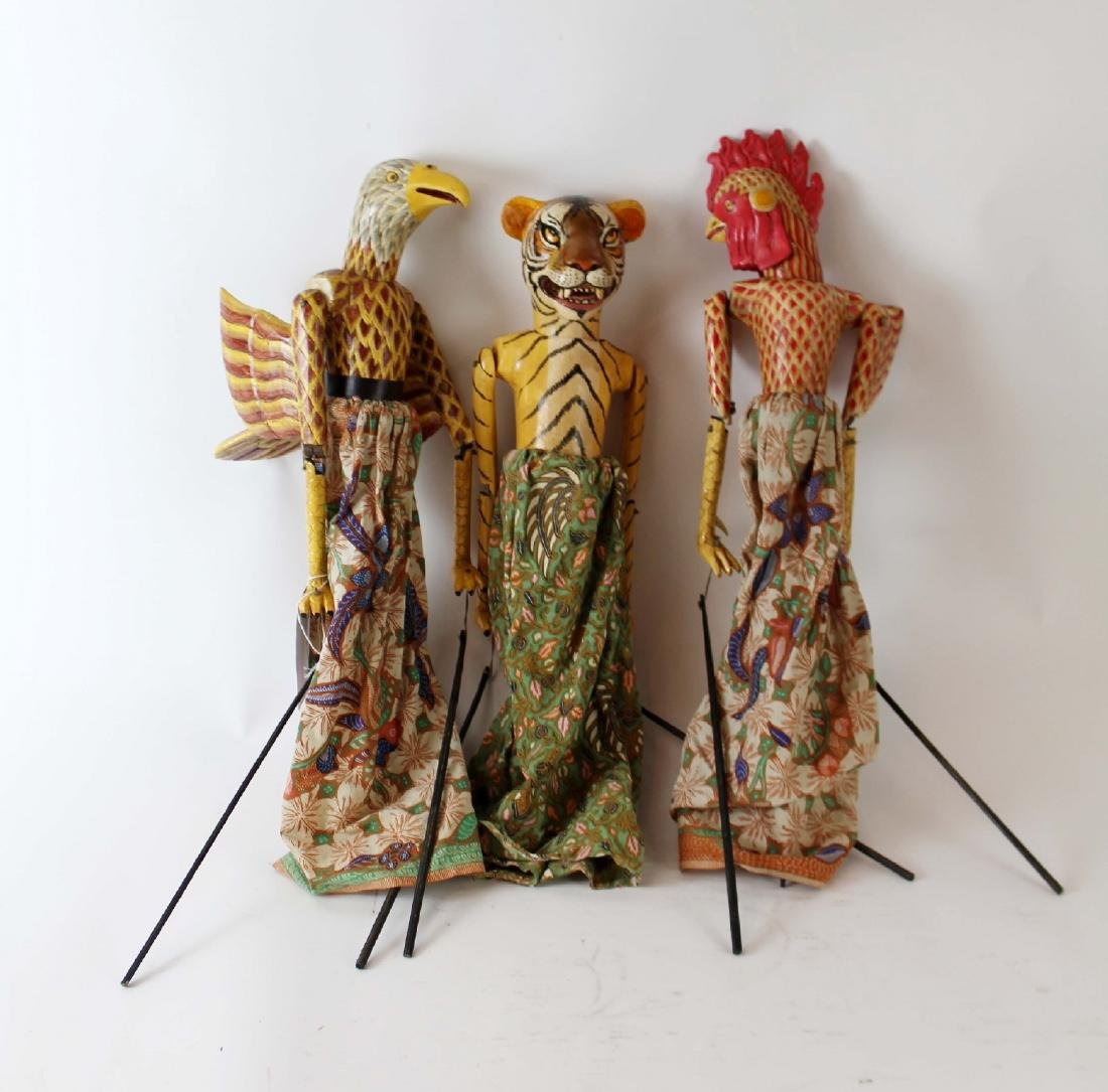 Lot of 3 Indonesian puppets
