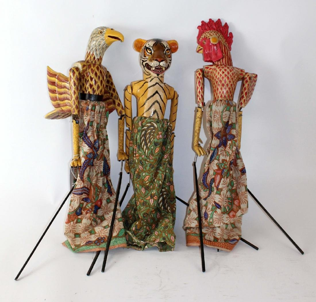 Lot of 3 Indonesian puppets - 3