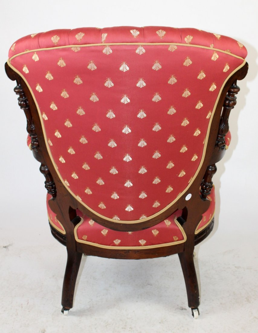American Victorian tufted armchair - 2