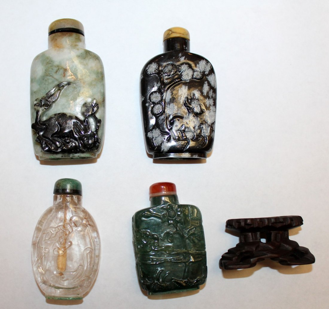 Collection of 12 Chinese snuff bottles - 6