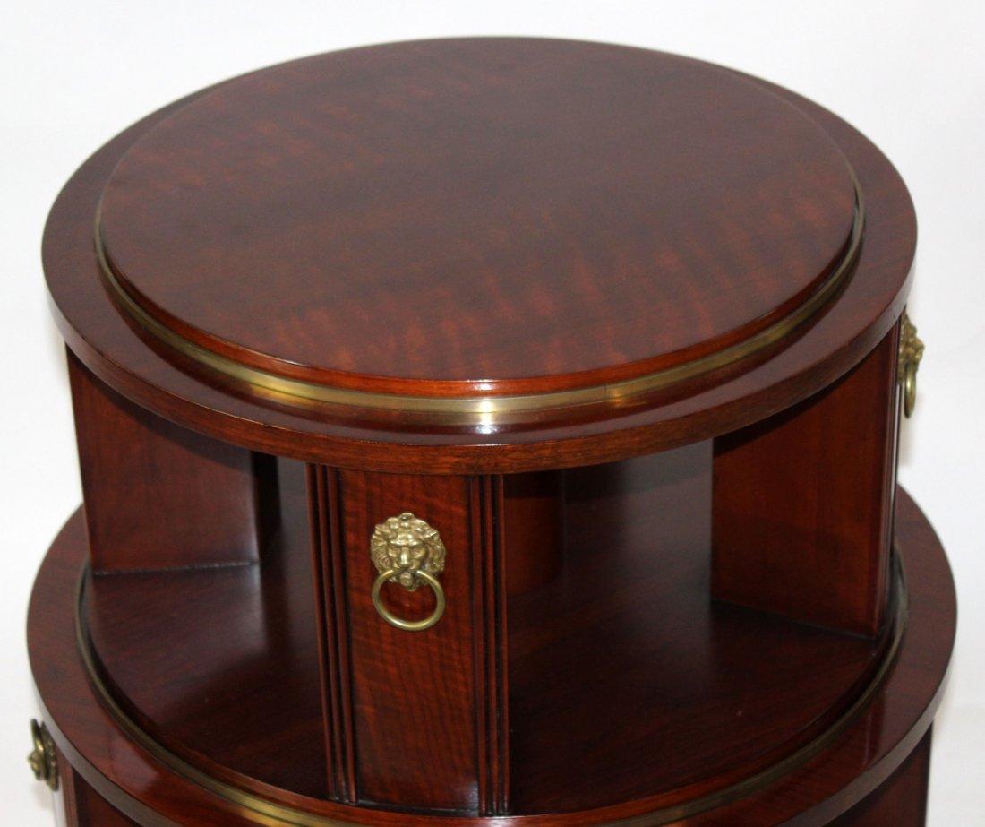 Revolving mahogany circular side table - 2