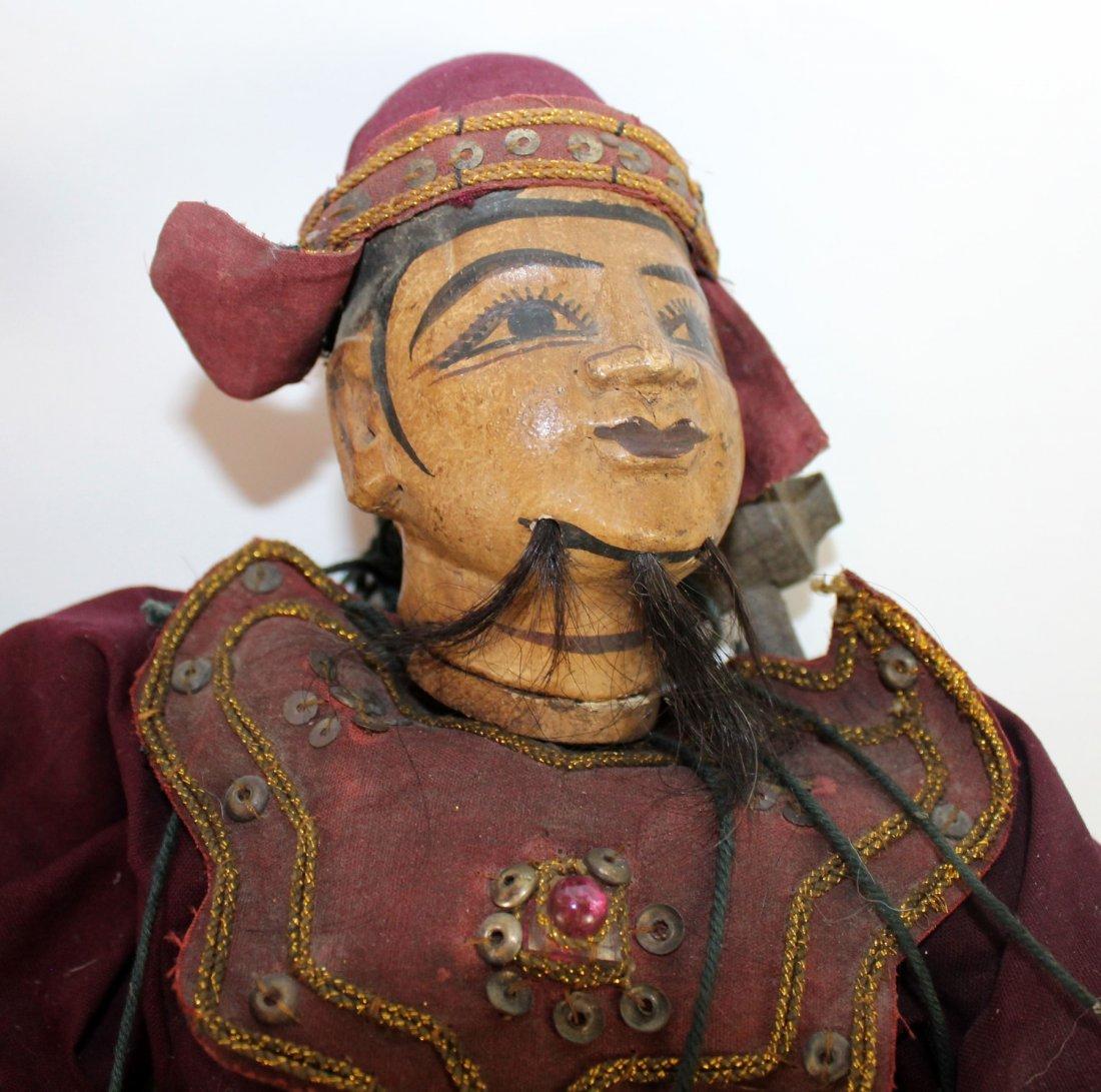 2 antique Tibetan puppets - 2