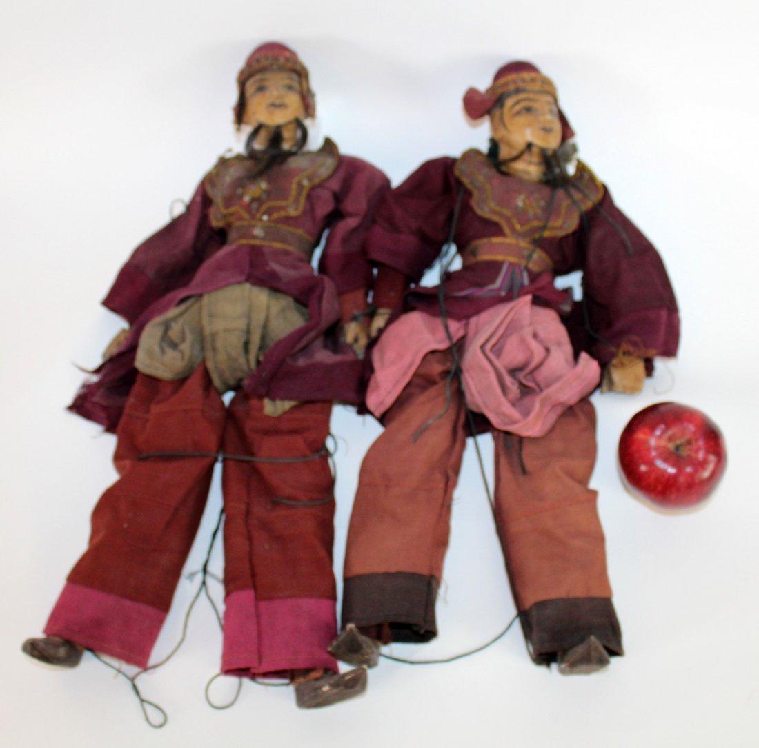 2 antique Tibetan puppets - 3