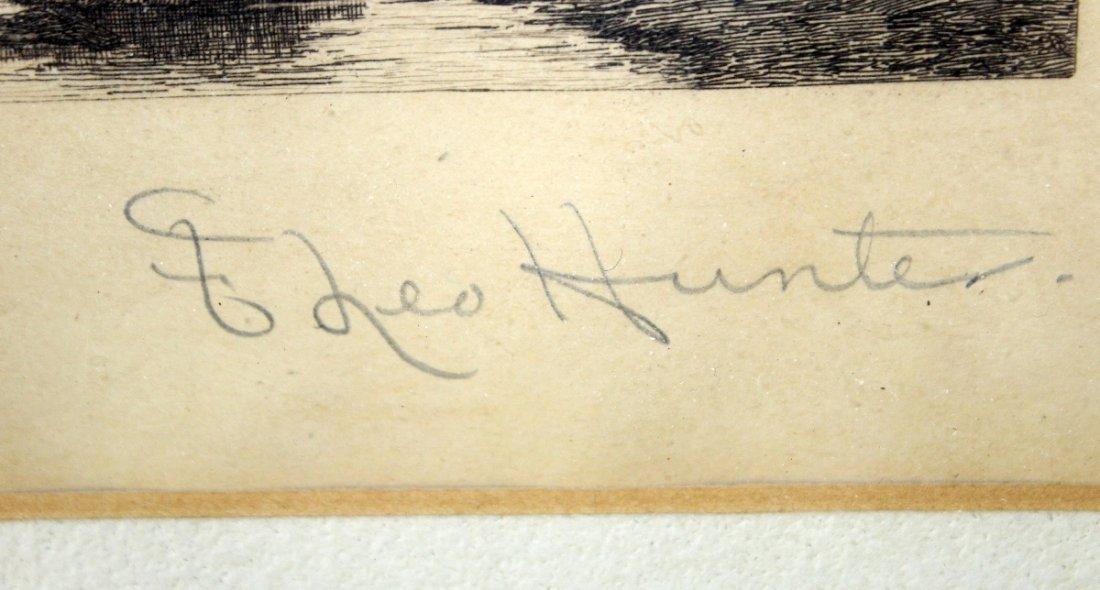Frederick Leo Hunter (1858-1943, New York) engraving - 3