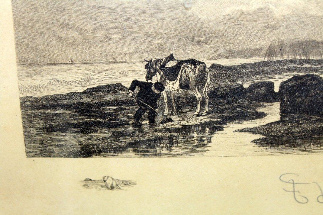 Frederick Leo Hunter (1858-1943, New York) engraving - 4