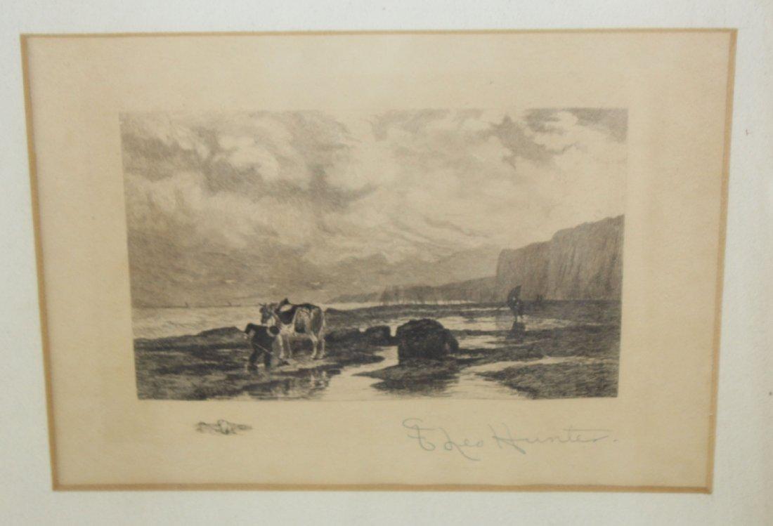 Frederick Leo Hunter (1858-1943, New York) engraving - 5