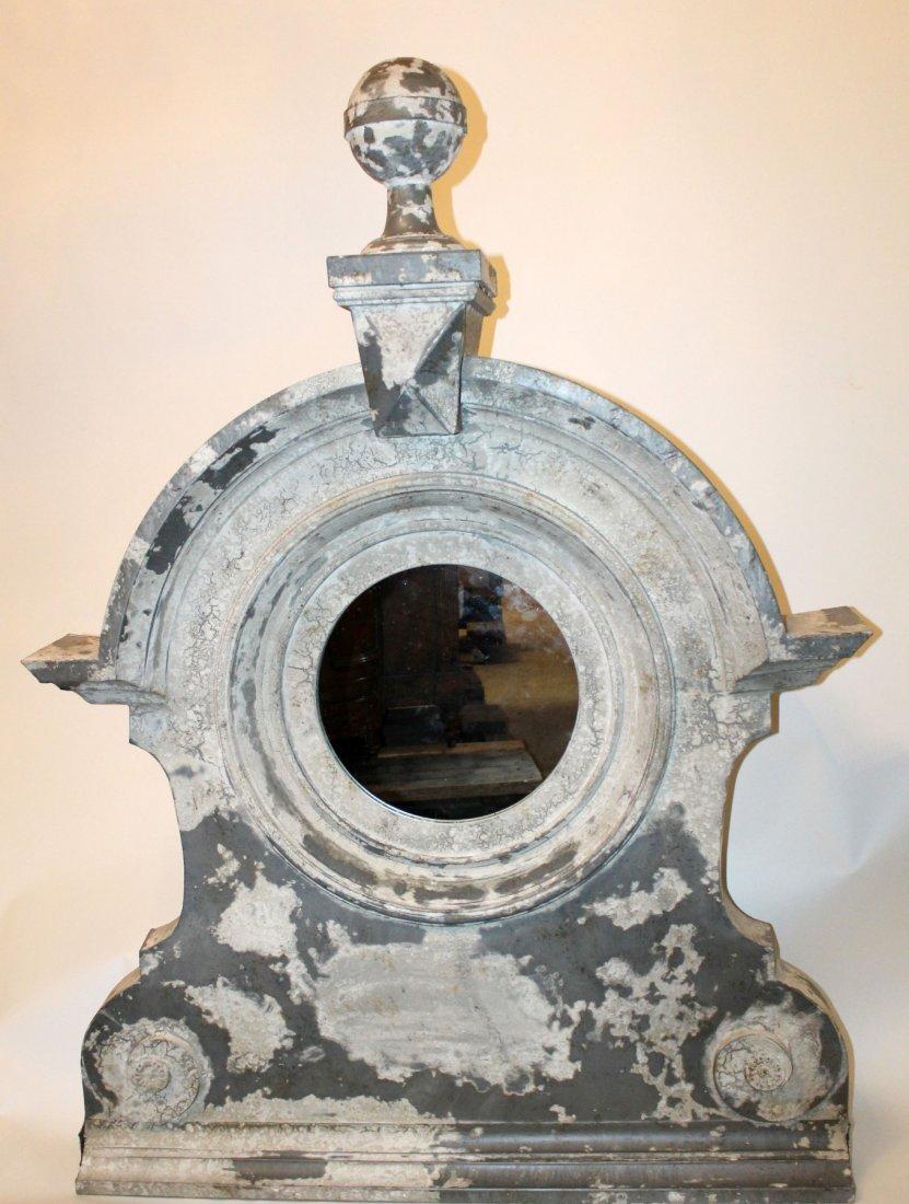 French architectural L'oeil de boeuf zinc mirror - 2