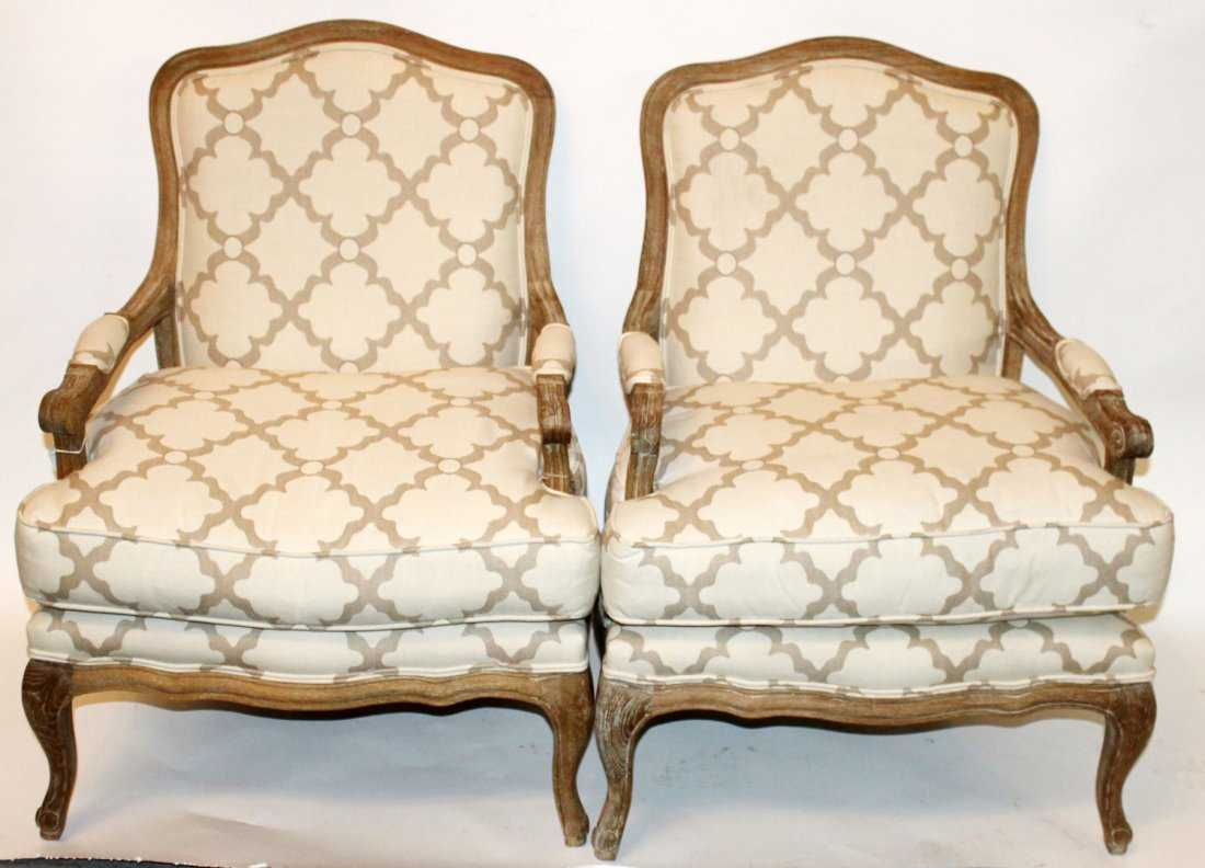 Pair of modern louis xv style armchairs