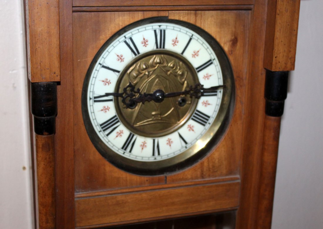 Gustav Becker wall clock in walnut case - 2