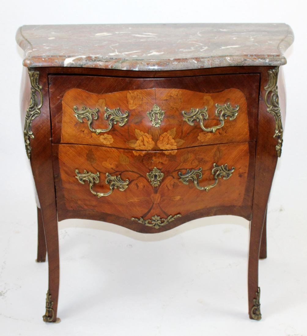 Louis XV style marquetry commode