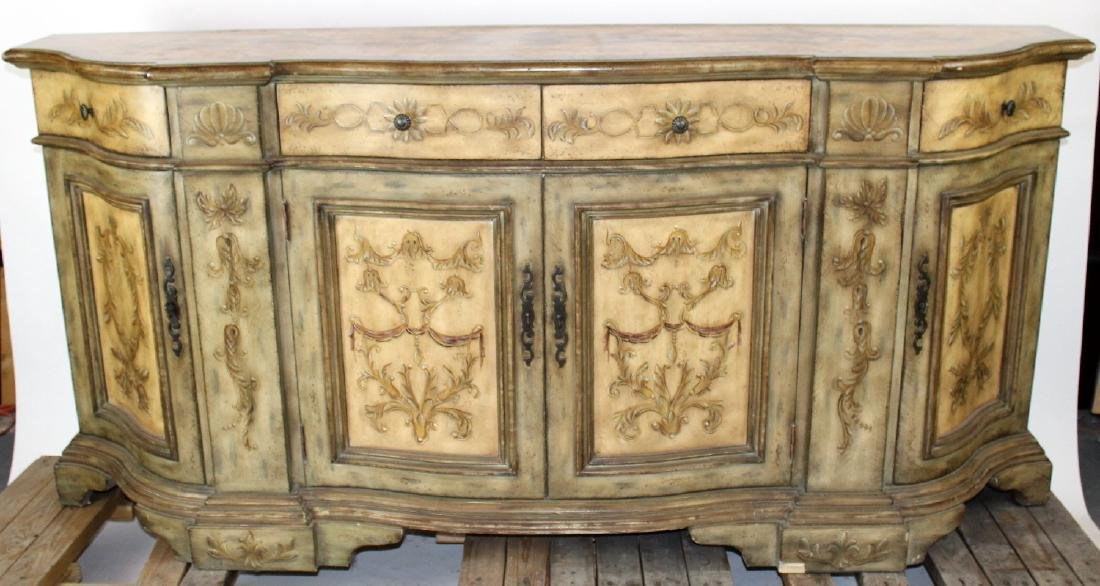 Seven Seas by Hooker painted sideboard