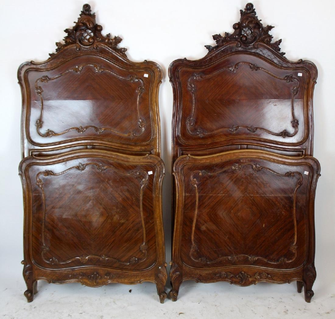 Pair of French Louis XV beds