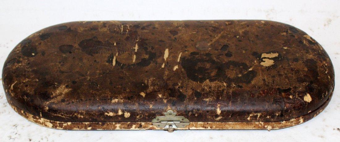 Antique antler horn & sterling carving set - 2