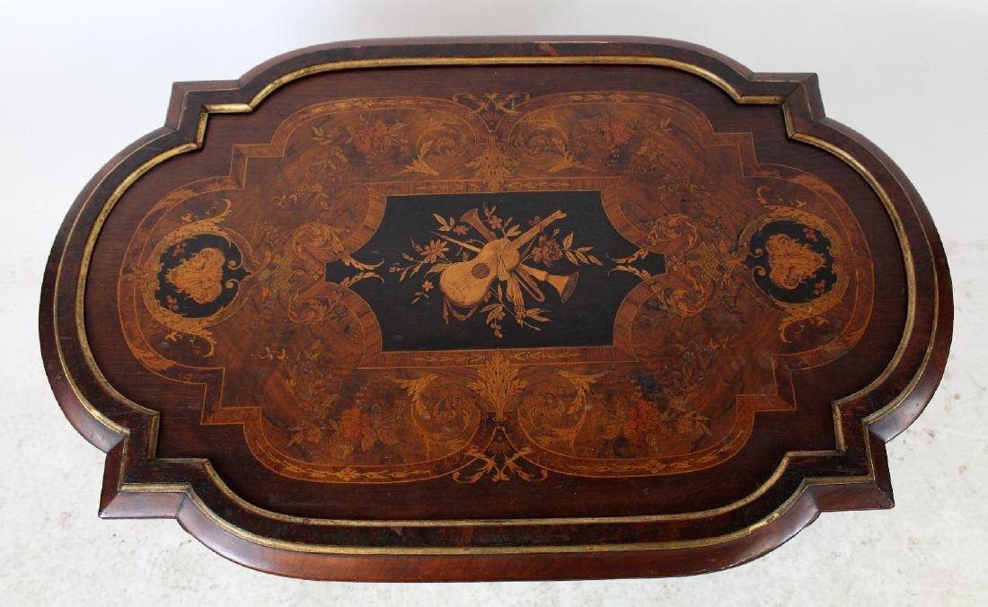 American Renaissance Revival parlor table - 2