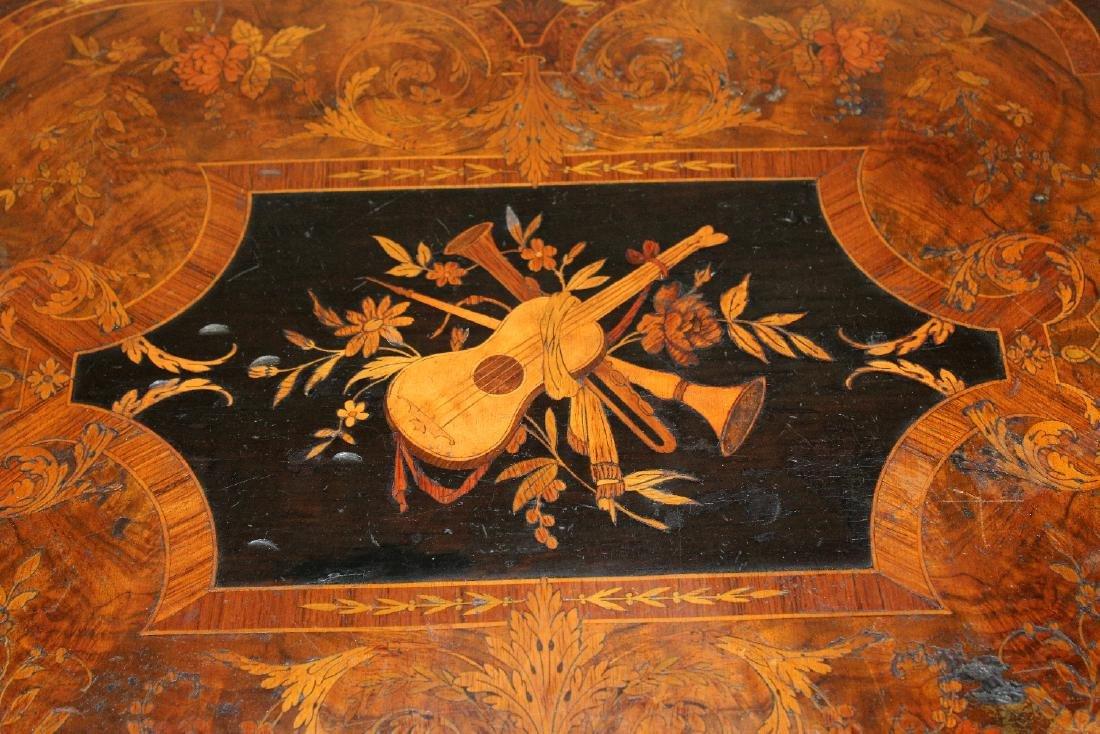 American Renaissance Revival parlor table - 4