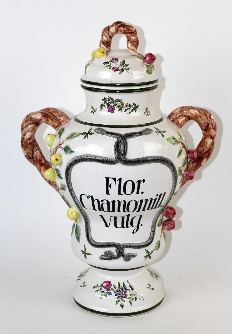 German Handarbeit apothecary jar