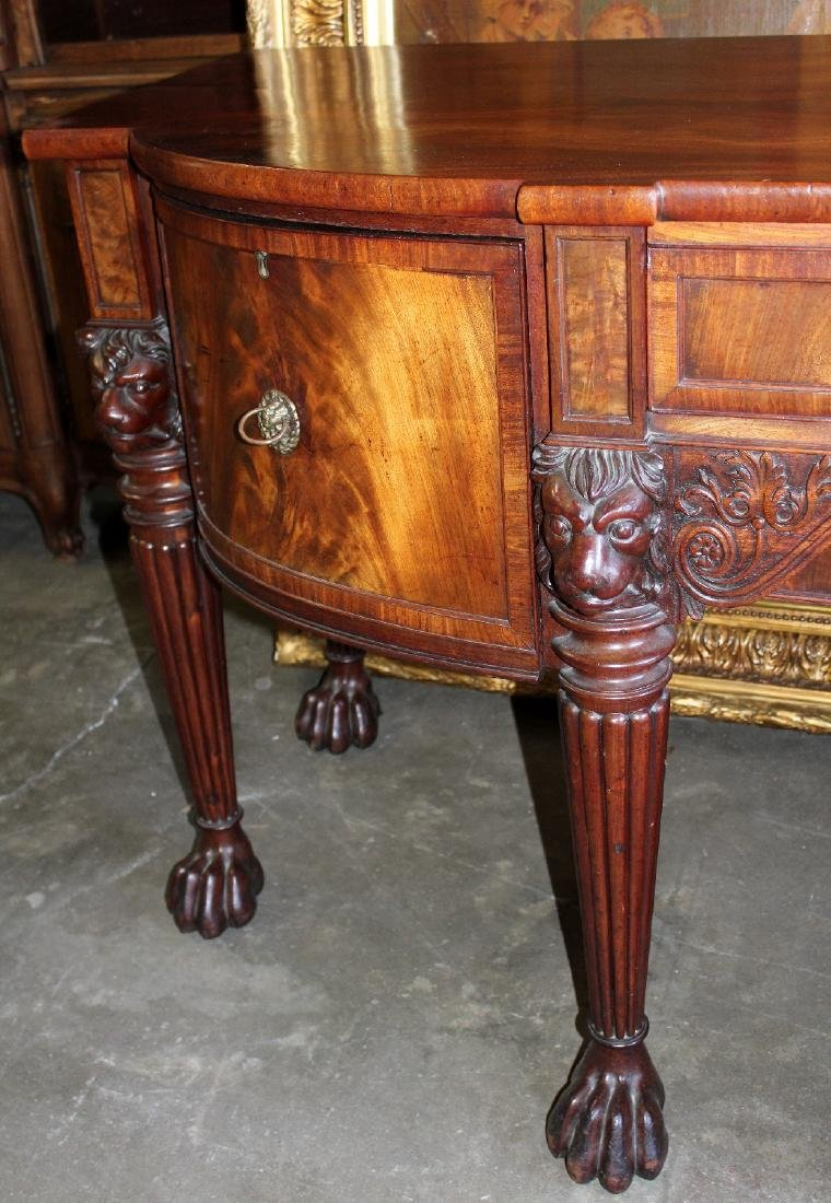 English sideboard flame mahogany - 3