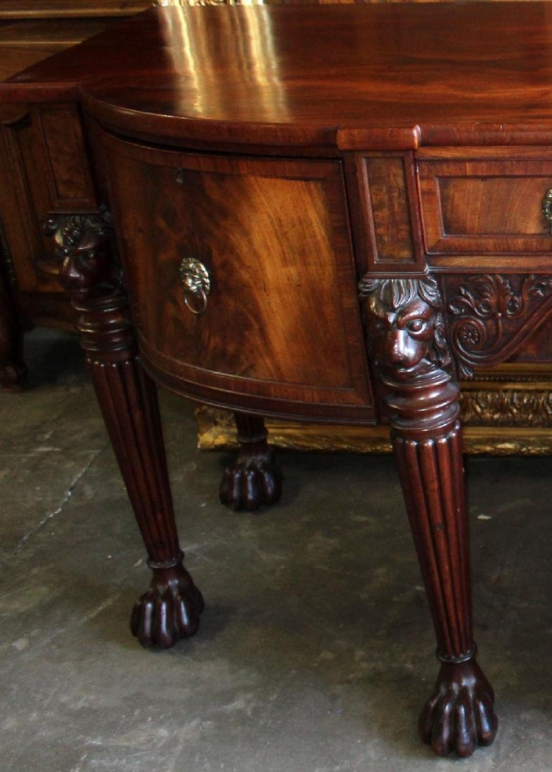 English sideboard flame mahogany - 4