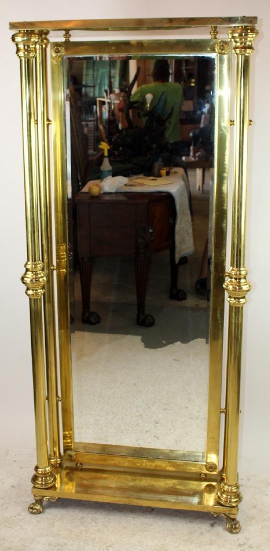 American dressing mirror in brass