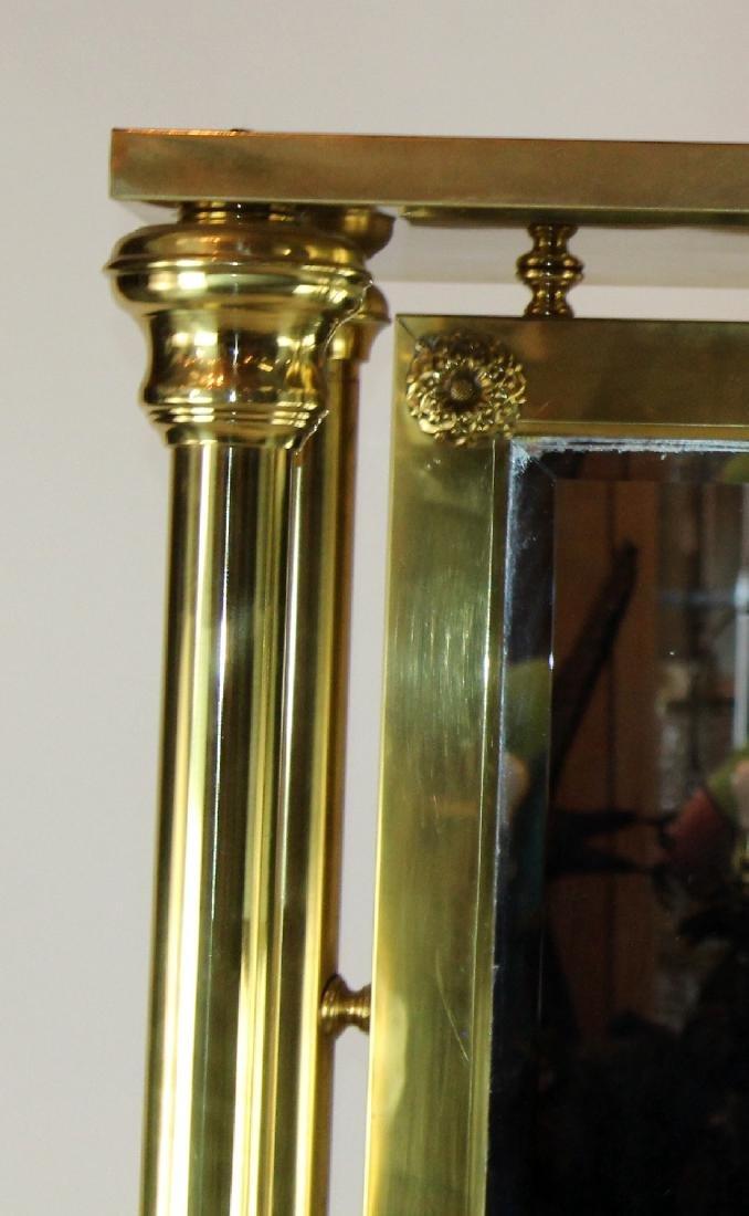 American dressing mirror in brass - 3