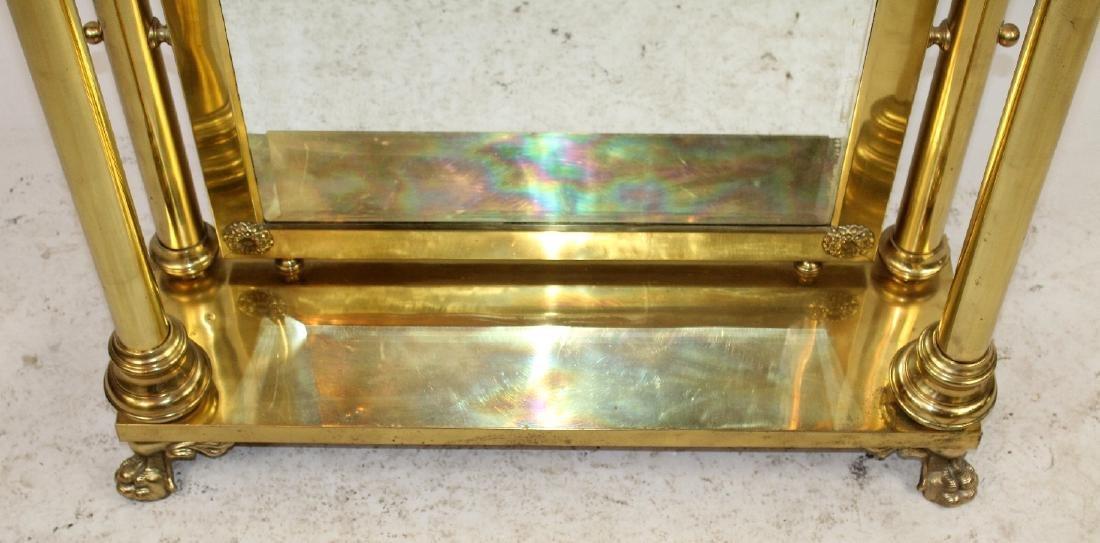 American dressing mirror in brass - 4