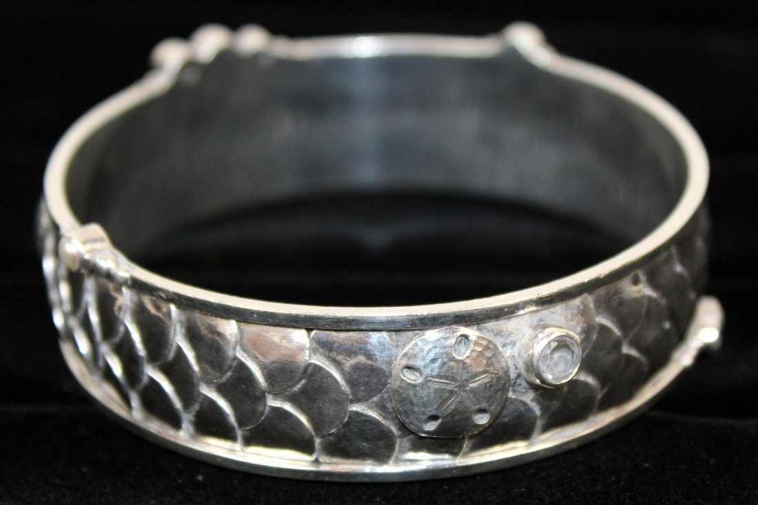 Echo of the Dreamer sterling bangle - 5