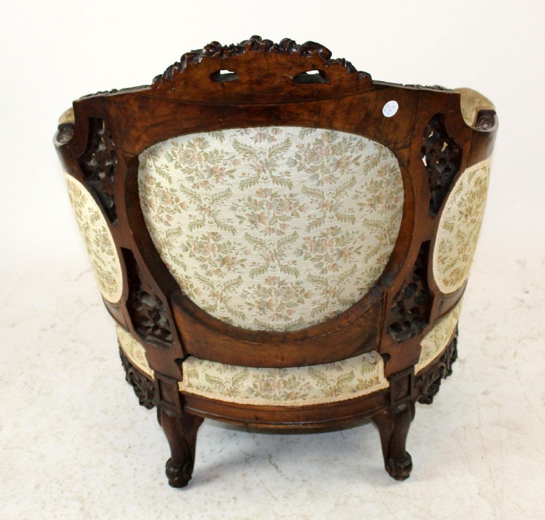 Louis XVI style curved back armchair - 2
