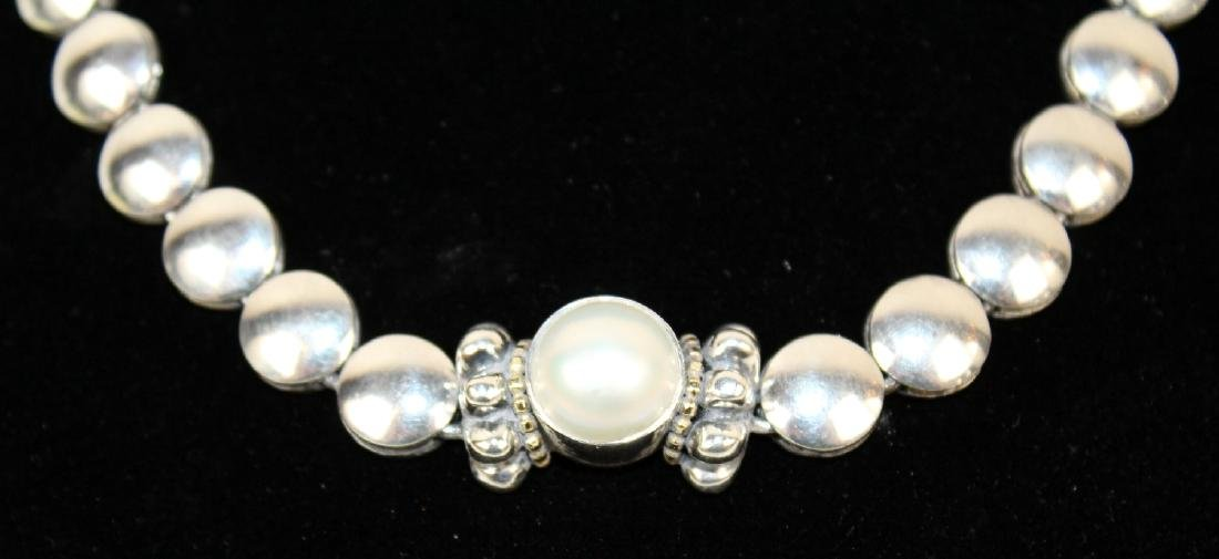 Lagos Caviar sterling silver & pearl necklace - 4