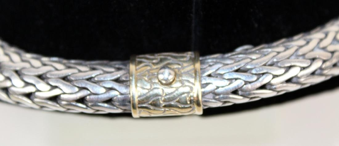 John Hardy Sterling and 18 kt gold chain - 5