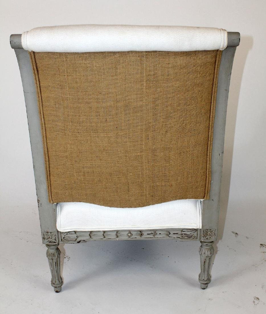 Louis XVI style upholstered armchair - 2