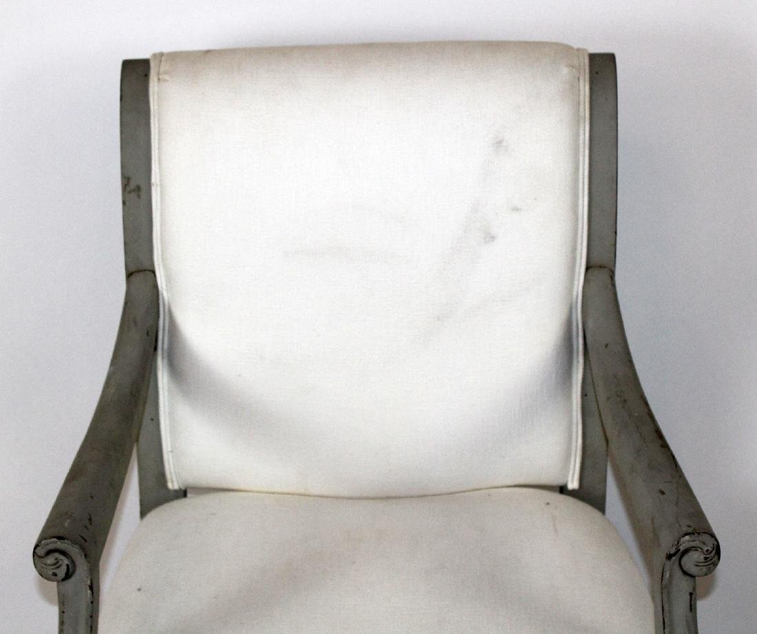 Louis XVI style upholstered armchair - 3