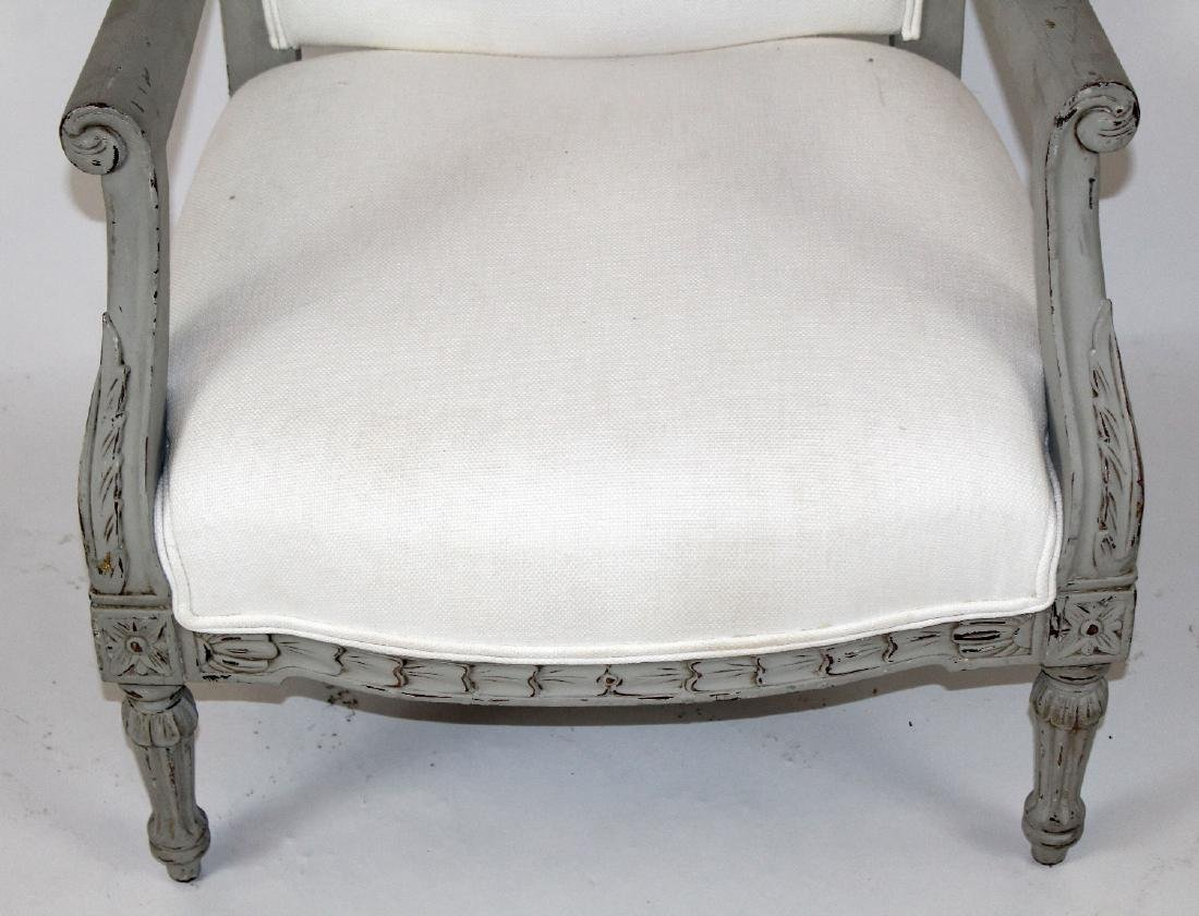 Louis XVI style upholstered armchair - 4