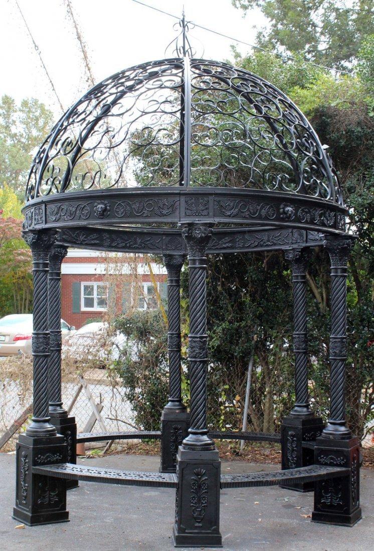 Cast iron gazebo with dome