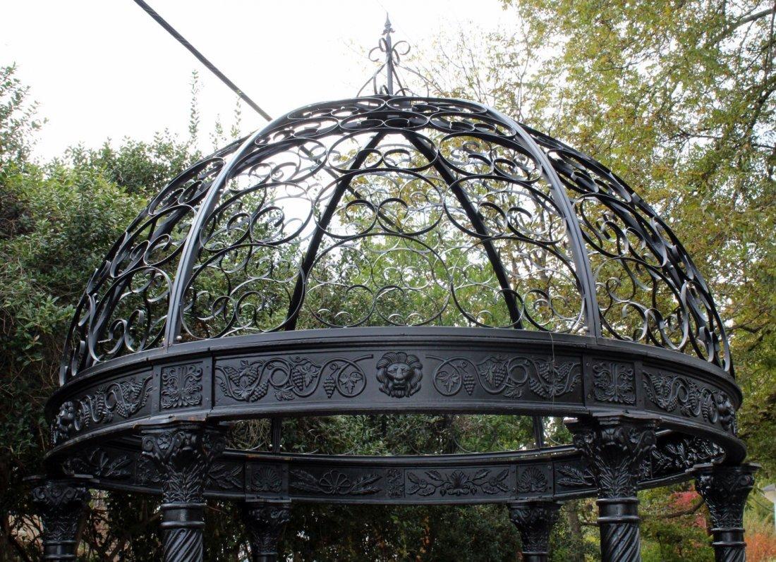 Cast iron gazebo with dome - 4