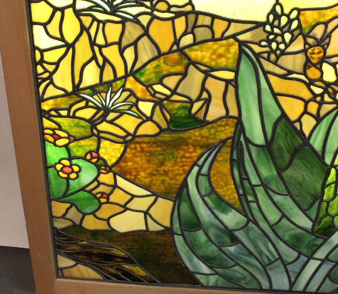 Set of 4 American stained glass windows - 2