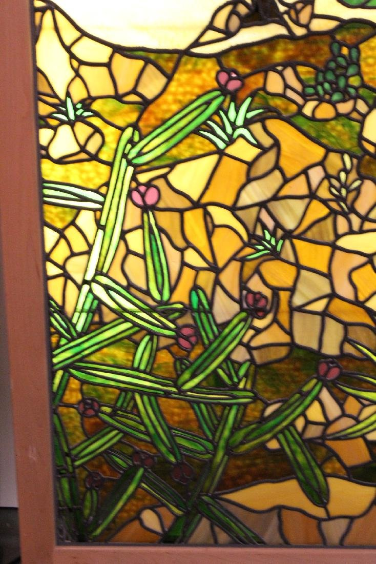 Set of 4 American stained glass windows - 6