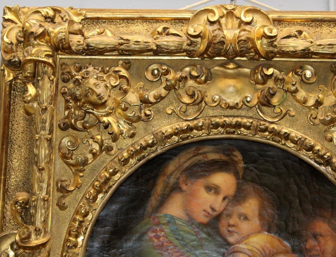 Madonna della Sedia. 19th century oil on canvas. After - 3