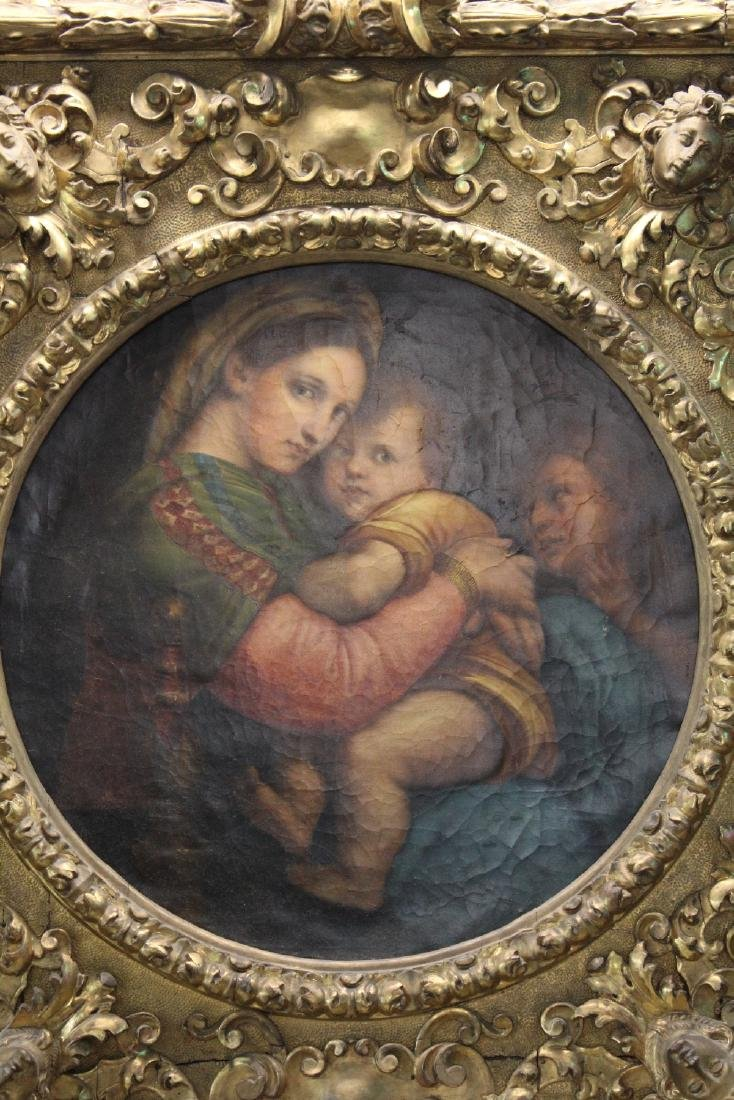 Madonna della Sedia. 19th century oil on canvas. After - 5