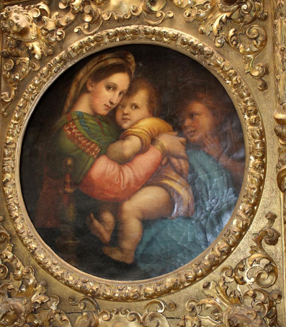 Madonna della Sedia. 19th century oil on canvas. After - 7