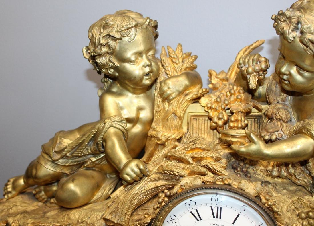 French Renaissance bronze cherub clock - 6