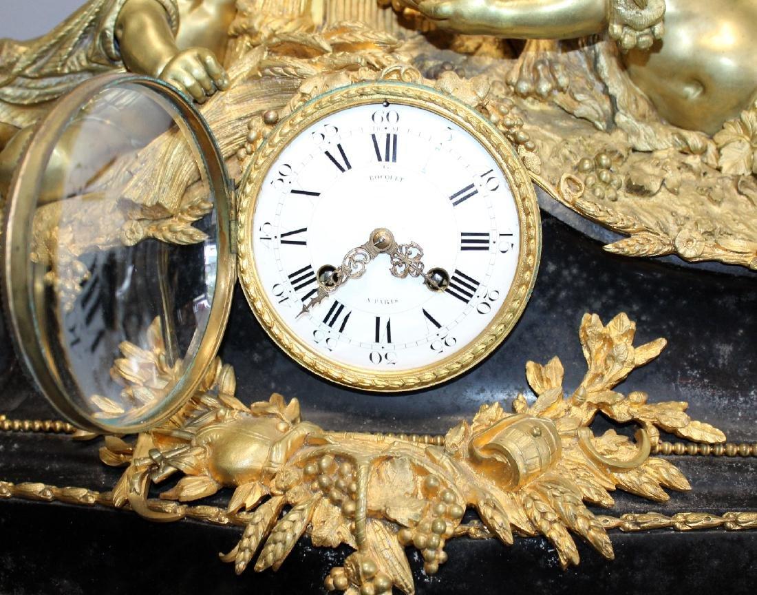 French Renaissance bronze cherub clock - 8