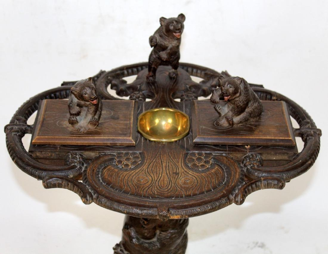 19th c Black Forest carved smoking stand - 2